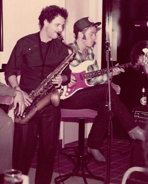 David Shelley (guitar), Richie Gerber (sax). Bread of Life 1984 B.C.H. (Before Cowboy Hat)