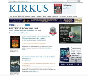 Kirkus Reviews Names Jazz: America's Gift in Top Books of 2015